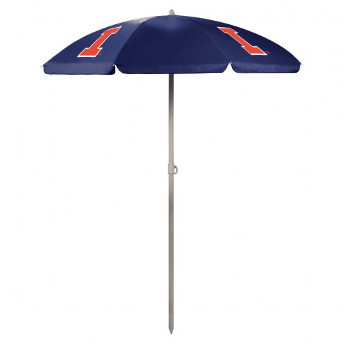 Illinois Fighting Illini Navy Beach Umbrella