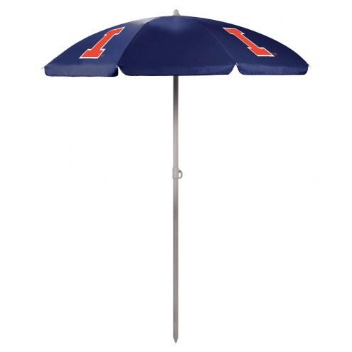 Illinois Fighting Illini Navy Beach Umbrella
