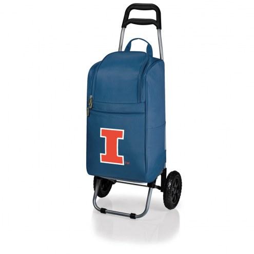 Illinois Fighting Illini Navy Cart Cooler