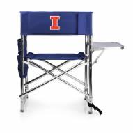 Illinois Fighting Illini Navy Sports Folding Chair