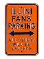 Illinois Fighting Illini NCAA Embossed Parking Sign