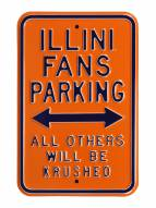 Illinois Fighting Illini NCAA Embossed Parking Sign