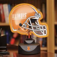 Illinois Fighting Illini Neon Helmet Desk Lamp