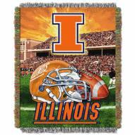 Illinois Fighting Illini NCAA Woven Tapestry Throw / Blanket