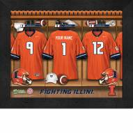 Illinois Fighting Illini Personalized Locker Room 11 x 14 Framed Photograph