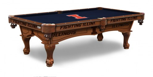 Illinois Fighting Illini Pool Table