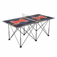 Illinois Fighting Illini Pop Up 6' Ping Pong Table