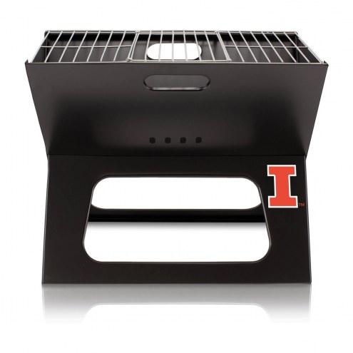 Illinois Fighting Illini Portable Charcoal X-Grill