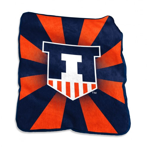 Illinois Fighting Illini Raschel Throw Blanket