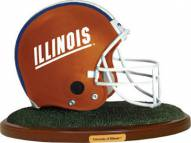 Illinois Fighting Illini Collectible Football Helmet Figurine