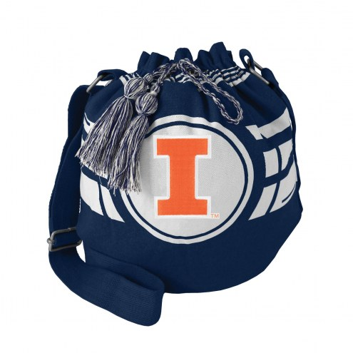 Illinois Fighting Illini Ripple Drawstring Bucket Bag