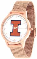 Illinois Fighting Illini Rose Mesh Statement Watch