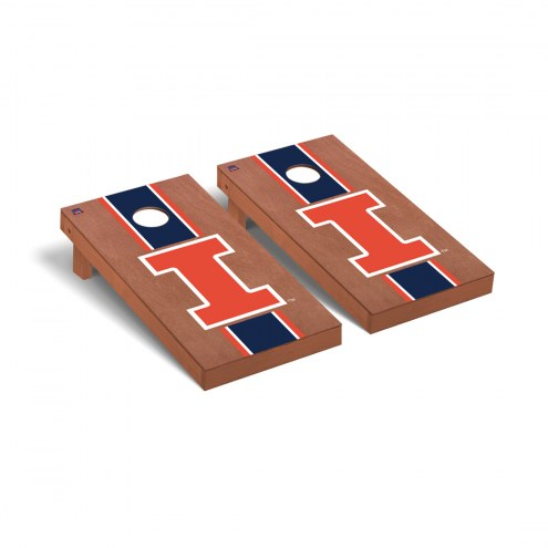 Illinois Fighting Illini Rosewood Stained Cornhole Game Set