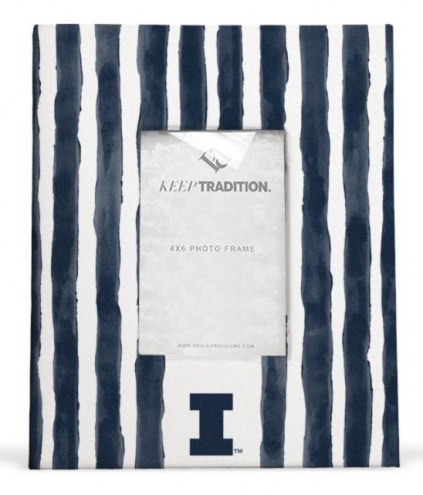 Illinois Fighting Illini School Stripes Picture Frame