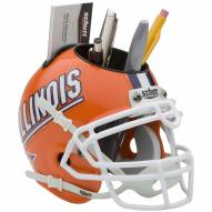 Illinois Fighting Illini Schutt Football Helmet Desk Caddy