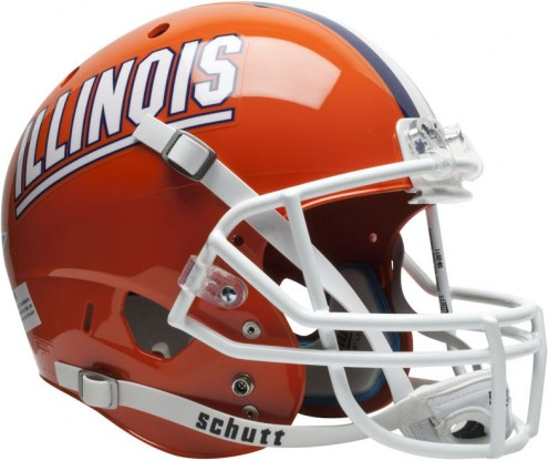 Illinois Fighting Illini Schutt XP Collectible Full Size Football Helmet