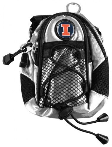 Illinois Fighting Illini Silver Mini Day Pack