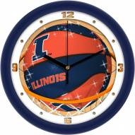 Illinois Fighting Illini Slam Dunk Wall Clock