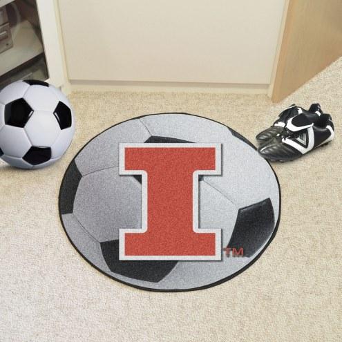 Illinois Fighting Illini Soccer Ball Mat