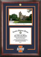 Illinois Fighting Illini Spirit Diploma Frame with Campus Image