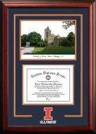 Illinois Fighting Illini Spirit Graduate Diploma Frame