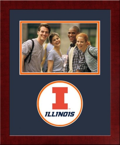 Illinois Fighting Illini Spirit Horizontal Photo Frame