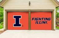Illinois Fighting Illini Split Garage Door Banner