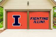 Illinois Fighting Illini Split Garage Door Banner