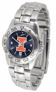 Illinois Fighting Illini Sport Steel AnoChrome Women's Watch