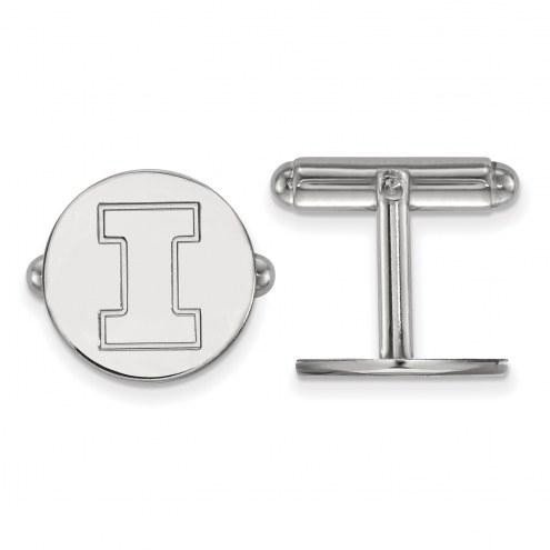 Illinois Fighting Illini Sterling Silver Cuff Links
