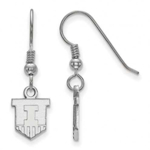 Illinois Fighting Illini Sterling Silver Extra Small Dangle Earrings