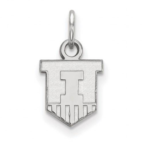 Illinois Fighting Illini Sterling Silver Extra Small Pendant