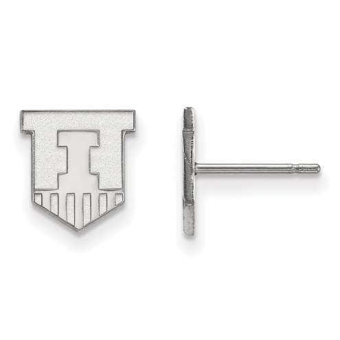 Illinois Fighting Illini Sterling Silver Extra Small Post Earrings