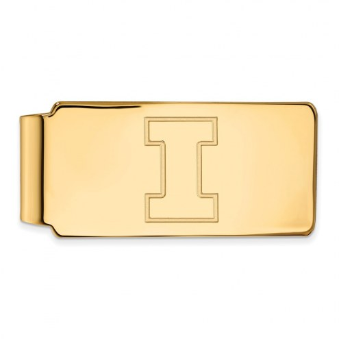 Illinois Fighting Illini Sterling Silver Gold Plated Money Clip