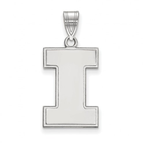 Illinois Fighting Illini Sterling Silver Large Pendant