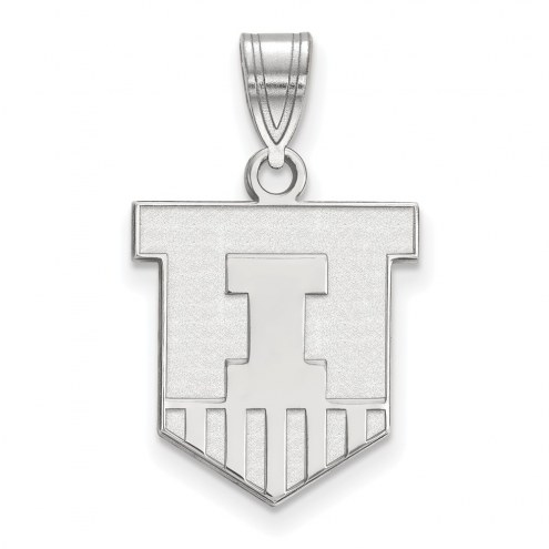 Illinois Fighting Illini Sterling Silver Medium Pendant