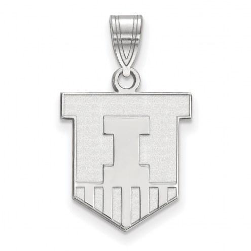 Illinois Fighting Illini Sterling Silver Medium Pendant