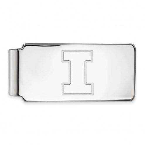 Illinois Fighting Illini Sterling Silver Money Clip