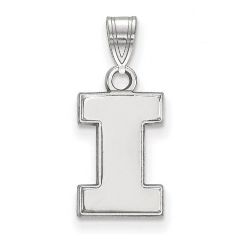 Illinois Fighting Illini Sterling Silver Small Pendant