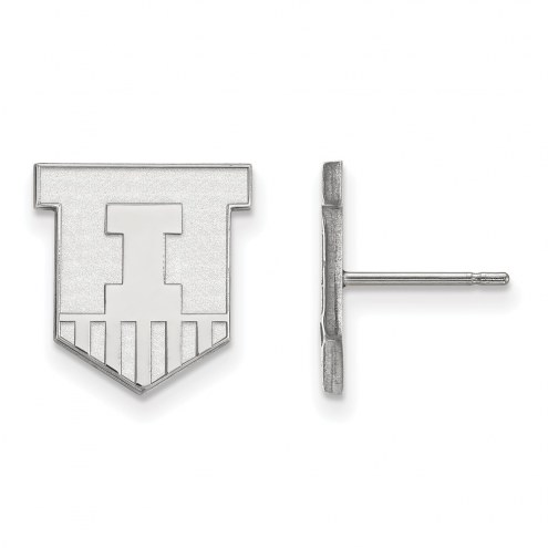 Illinois Fighting Illini Sterling Silver Small Post Earrings