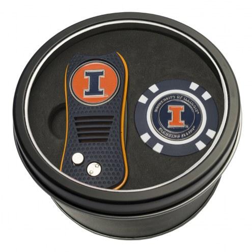 Illinois Fighting Illini Switchfix Golf Divot Tool & Chip