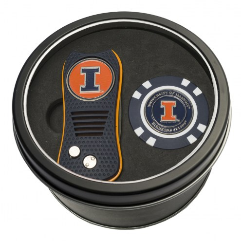 Illinois Fighting Illini Switchfix Golf Divot Tool & Chip