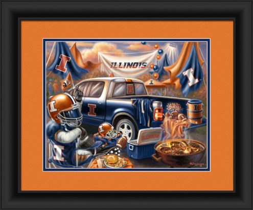 Illinois Fighting Illini Tailgate Framed Print