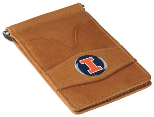 Illinois Fighting Illini Tan Player's Wallet