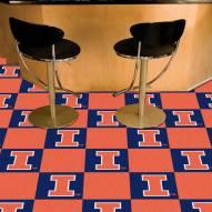 Illinois Fighting Illini Team Carpet Tiles