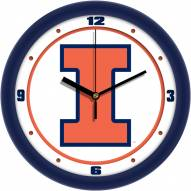 Illinois Fighting Illini Traditional Wall Clock