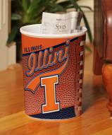 Illinois Fighting Illini Trash Can