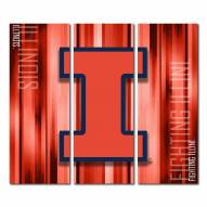 Illinois Fighting Illini Triptych Rush Canvas Wall Art