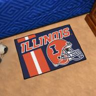 Illinois Fighting Illini Uniform Inspired Starter Rug