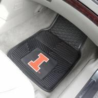 Illinois Fighting Illini Vinyl 2-Piece Car Floor Mats